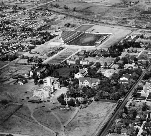 Aerial View Of The University Of Denver In Denver Colorado
