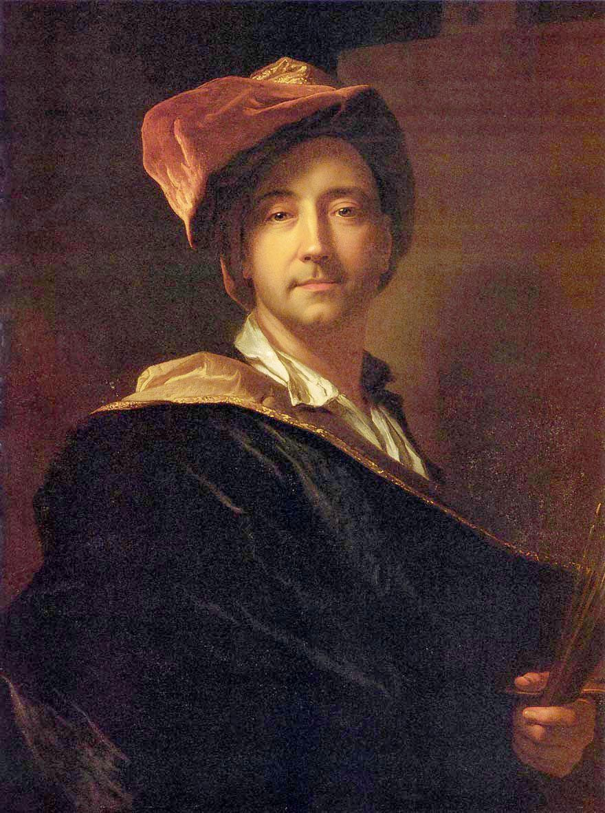 Hyacinthe Rigaud - Autoritratto con turbante