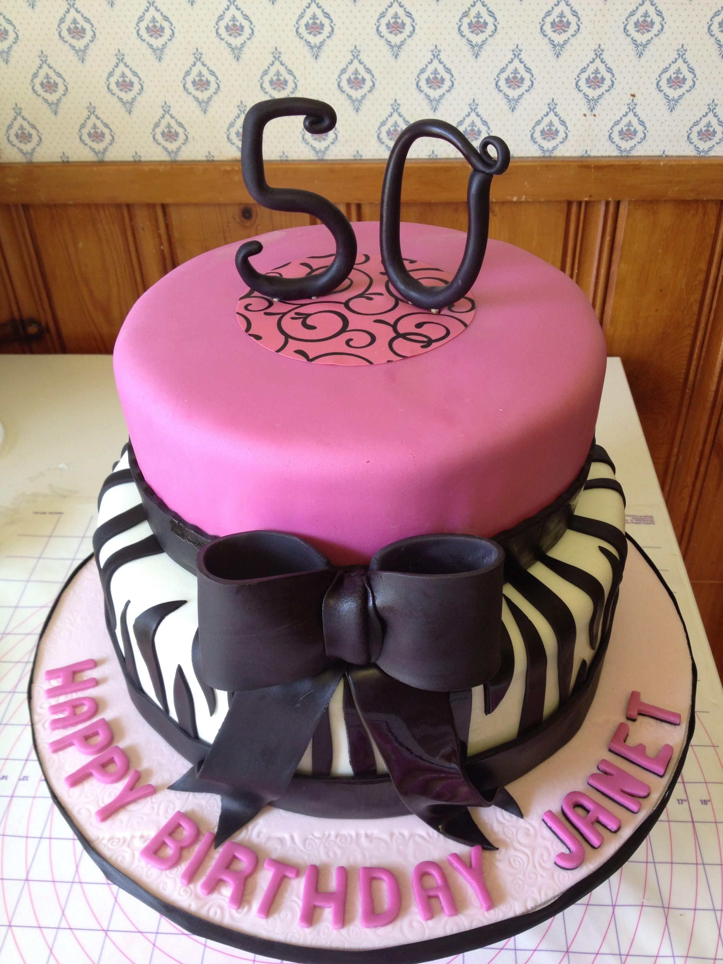 Elegant 50th birthday cake (With images) 50th birthday