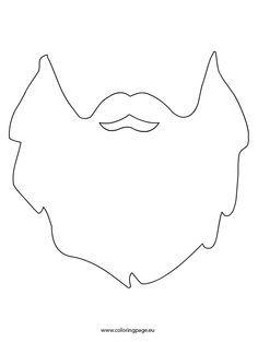 beard coloring pages   beard-printable   1st Birthday in 2019   Beard costume ...