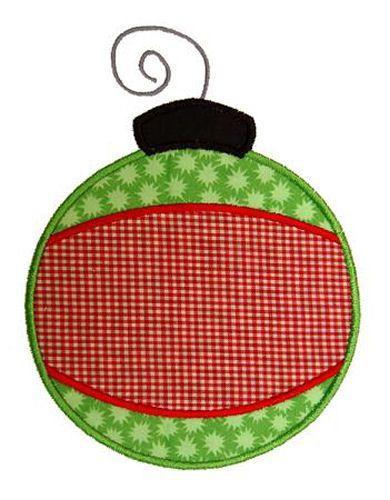 Banded Christmas Ornament Applique Design-christmas, ornament ...