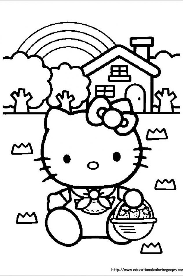 Hello Kitty Coloring Pages Free For Kids Hello Kitty Coloring