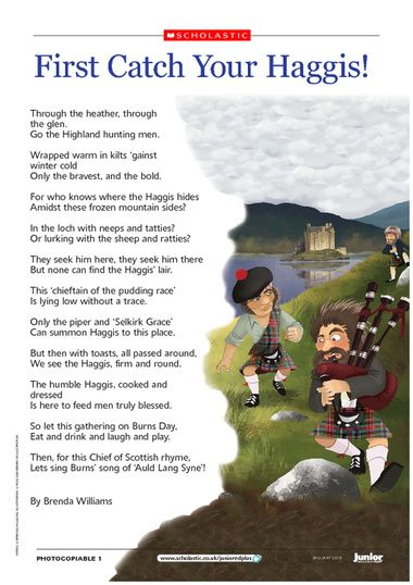 Image result for first catch your haggis poem