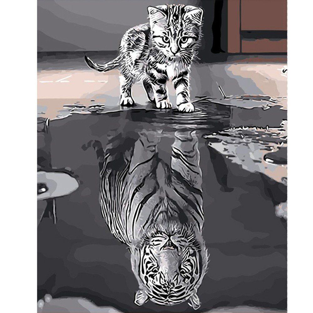 Tiger Paint By Number Kits • Paint By Number For Adults