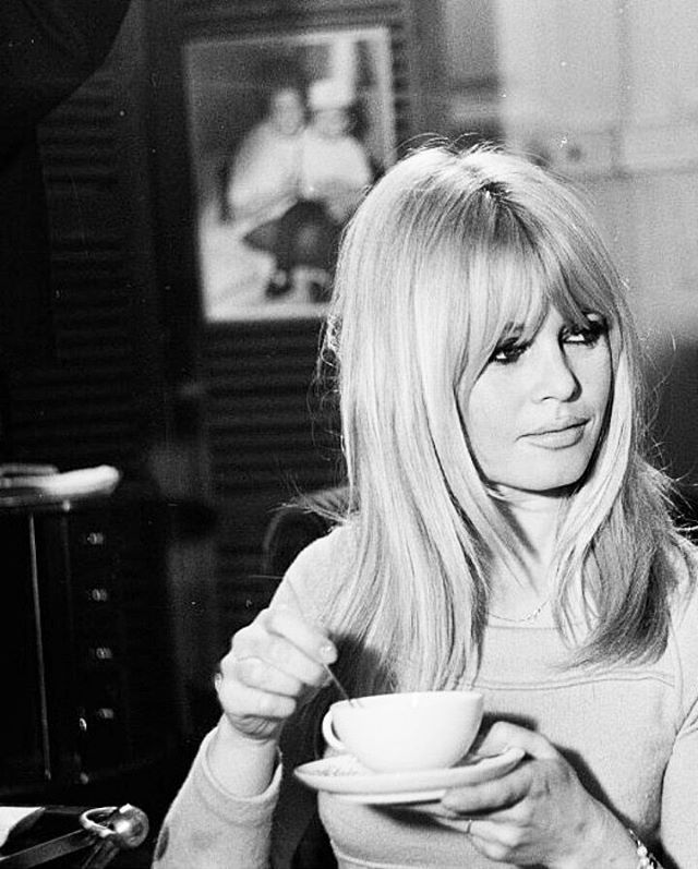 Brigitte Bardot Bb On Instagram Monday Coffee And Brigitte Bardot Brigittebardot Brigitte Bardot Bardot Hair Brigitte Bardot Hair Long Layered Hair