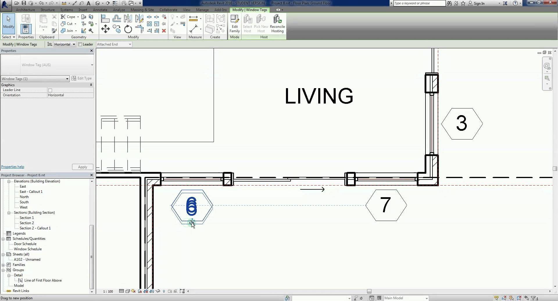 Revit 2016 Project B 25 Tags Revit Architecture Projects Tags