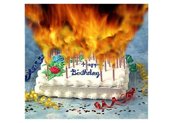Two Burning Stock Footage Video 100 Birthday Cake With Candle Number Six On Top Sixth Hd0009Time Lapse Candles