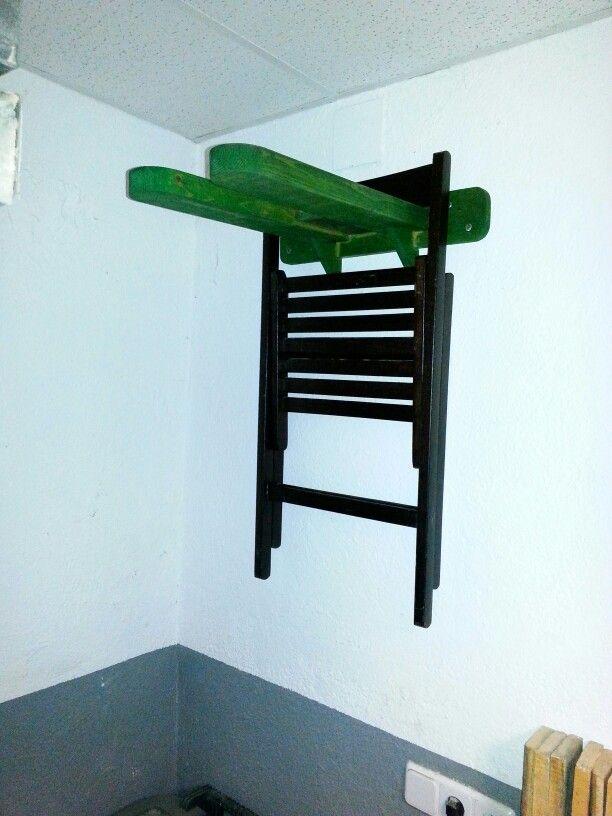 Soporte de pared para sillas playa Pinterest