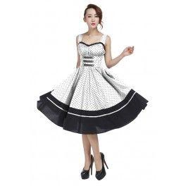 792a3a42 Rockabilly kjole hvid med polka prikker | Rockabilly & Vintage ...