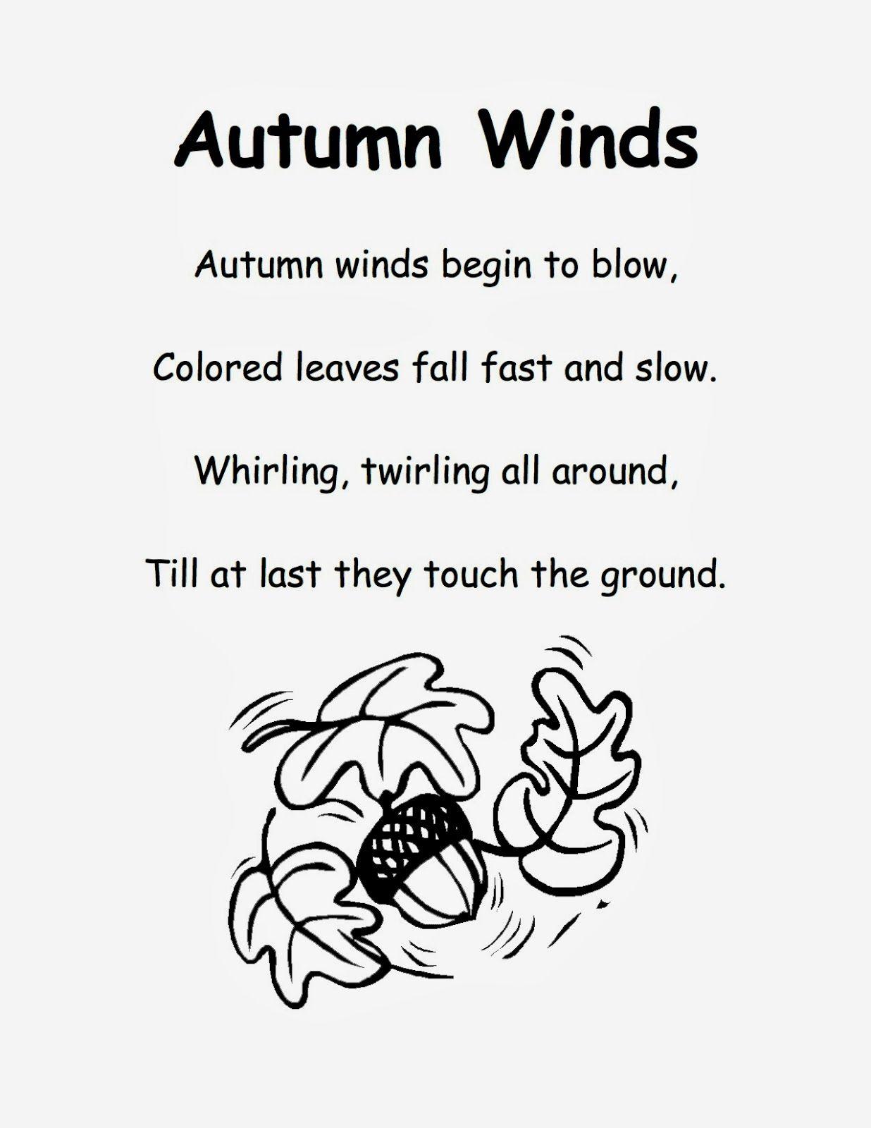 Fall Poem For Kindergarten