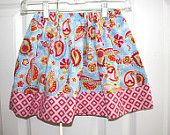 Ziggy Tails on Etsy: Size 5 and matching doll Paisley skirt