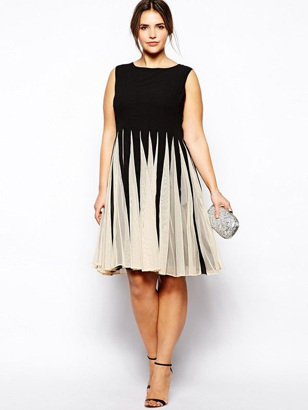Knielang Abendkleid Große Größen | Mode | Pinterest | Die Braut ...