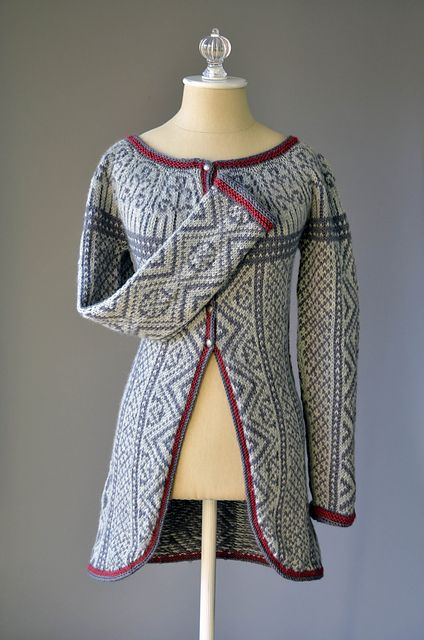 Three Colors Sweater pattern by Amy Gunderson | Tejido, Abrigos y ...