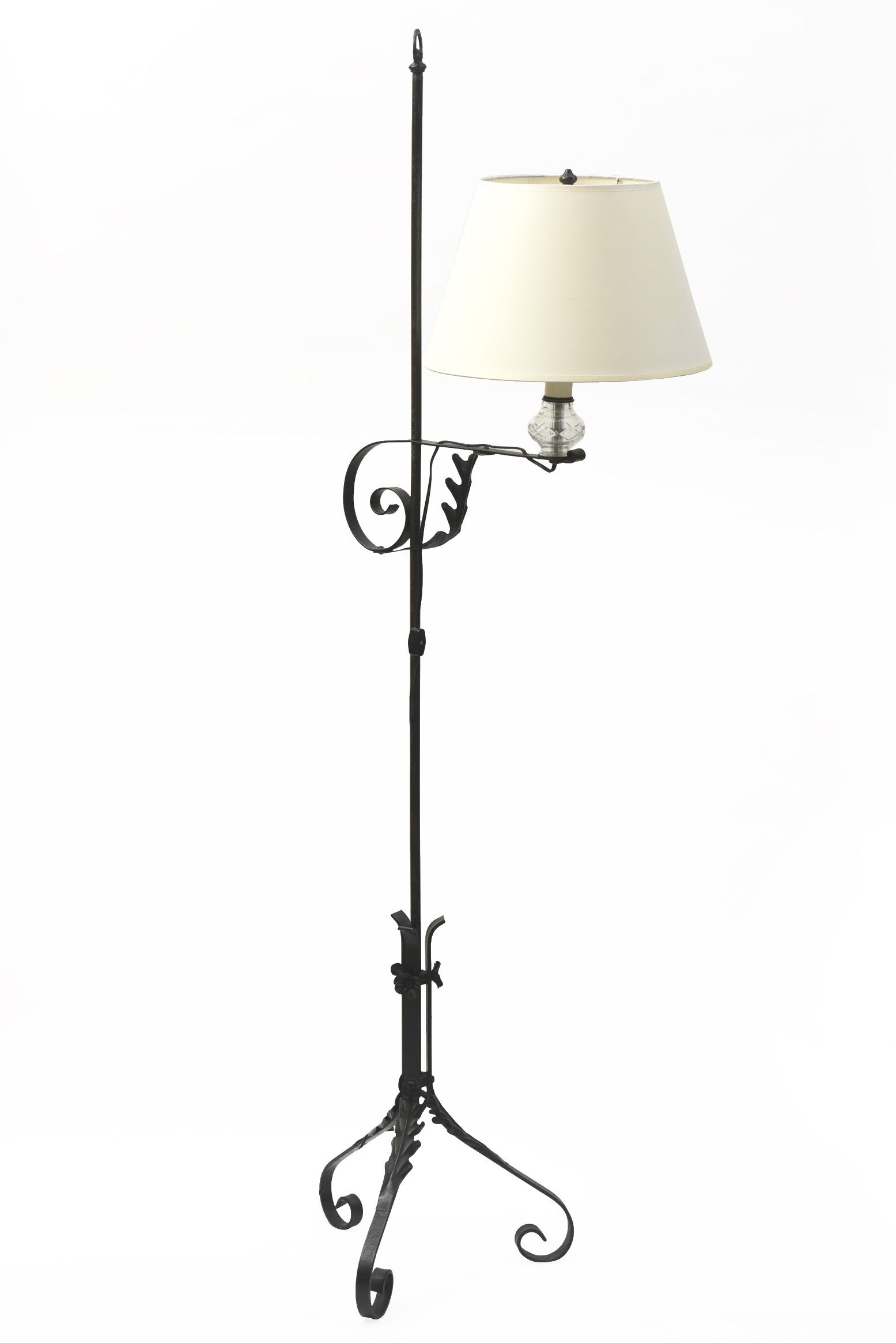 Wrought Iron Colonial Style Bridge Lamp Appleton Antique Lighting Wrought Iron Table Iron Table Rustic Table Lamps