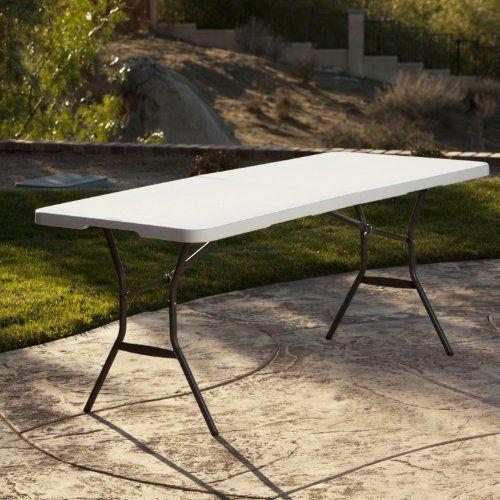 Lifetime 25011 Fold In Half Commercial Table 6 Feet White