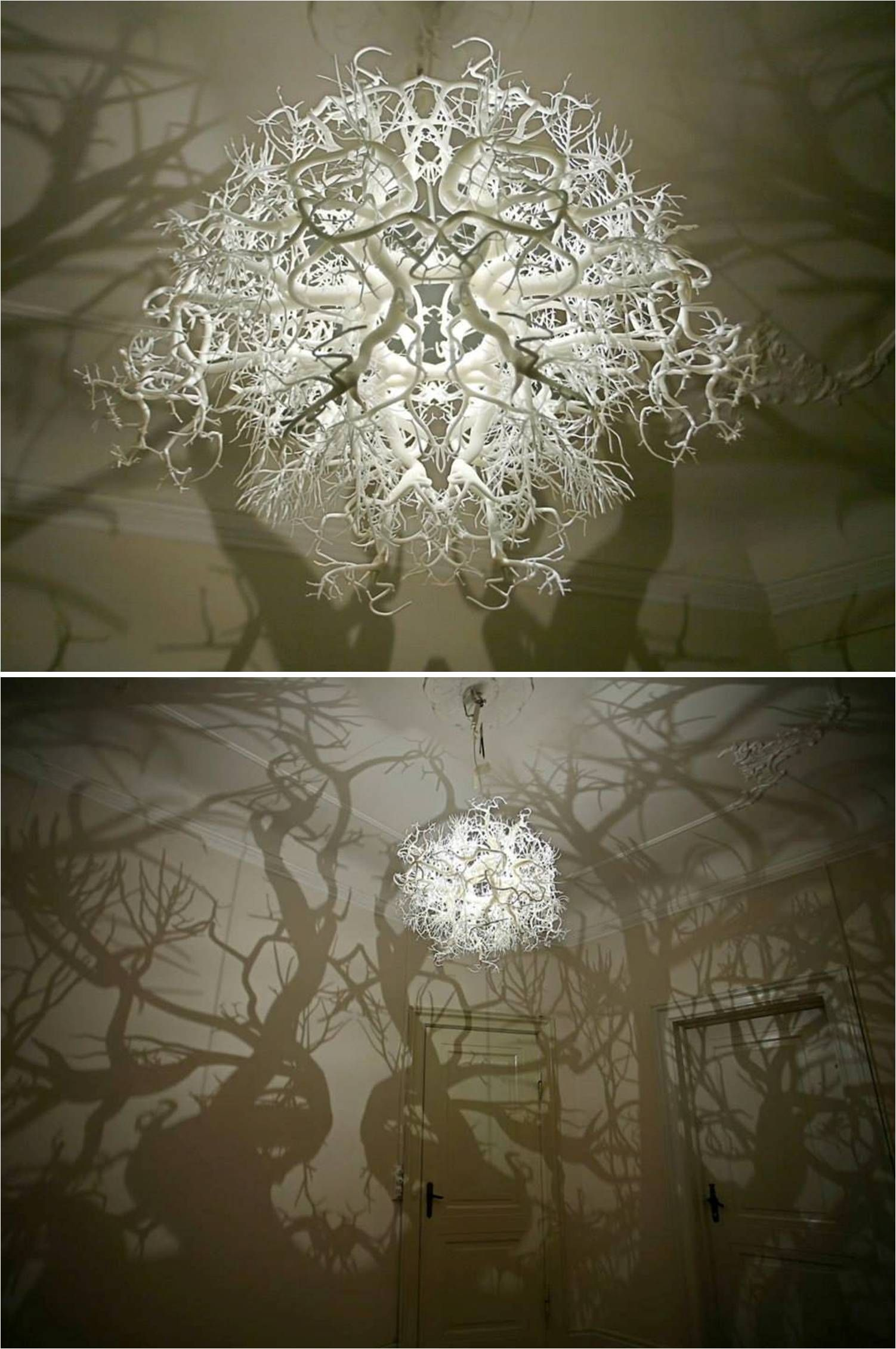 This remarkable chandelier from hilden diaz projects a 360 shadow this remarkable chandelier from hilden diaz projects a 360 shadow of trees and roots arubaitofo Images
