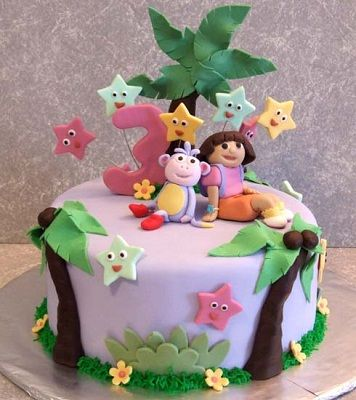 dora and boots themed brithday cake | momma (jackie ) | pinterest