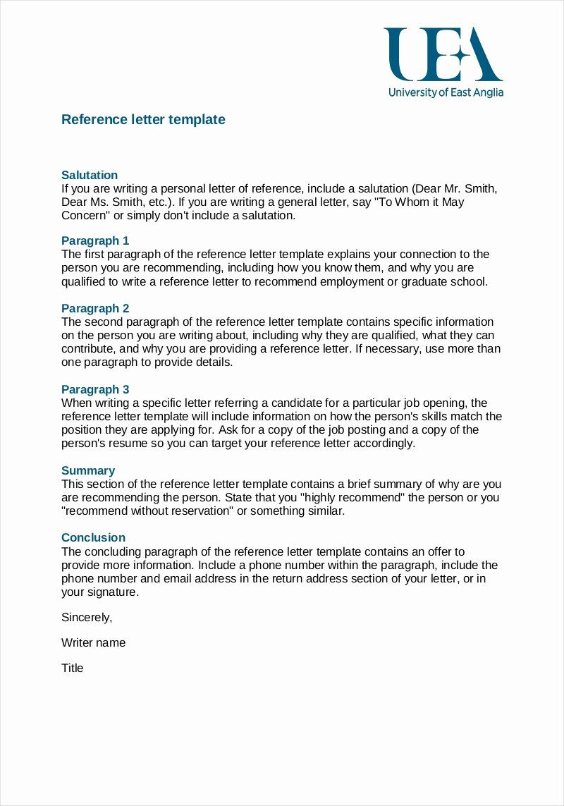 Reference Letter for A Job Beautiful Free 9 Employee