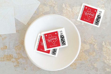 Texas love Holiday Stamps
