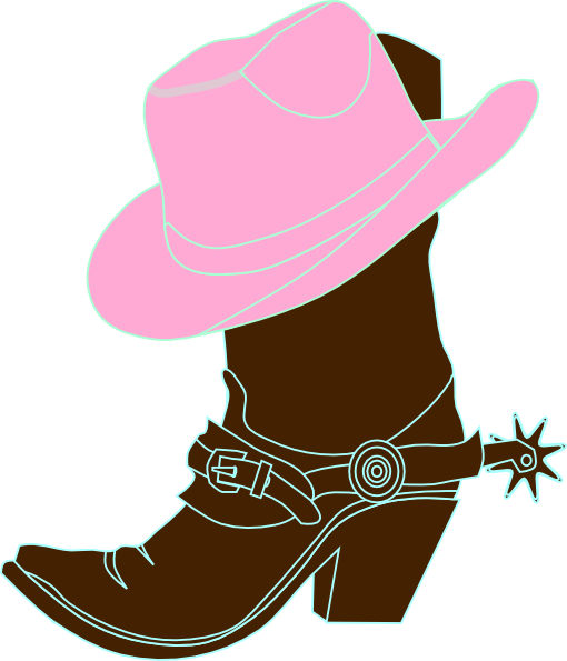 cowgirl boot and hat clip art clip art girls clipart rh pinterest ca