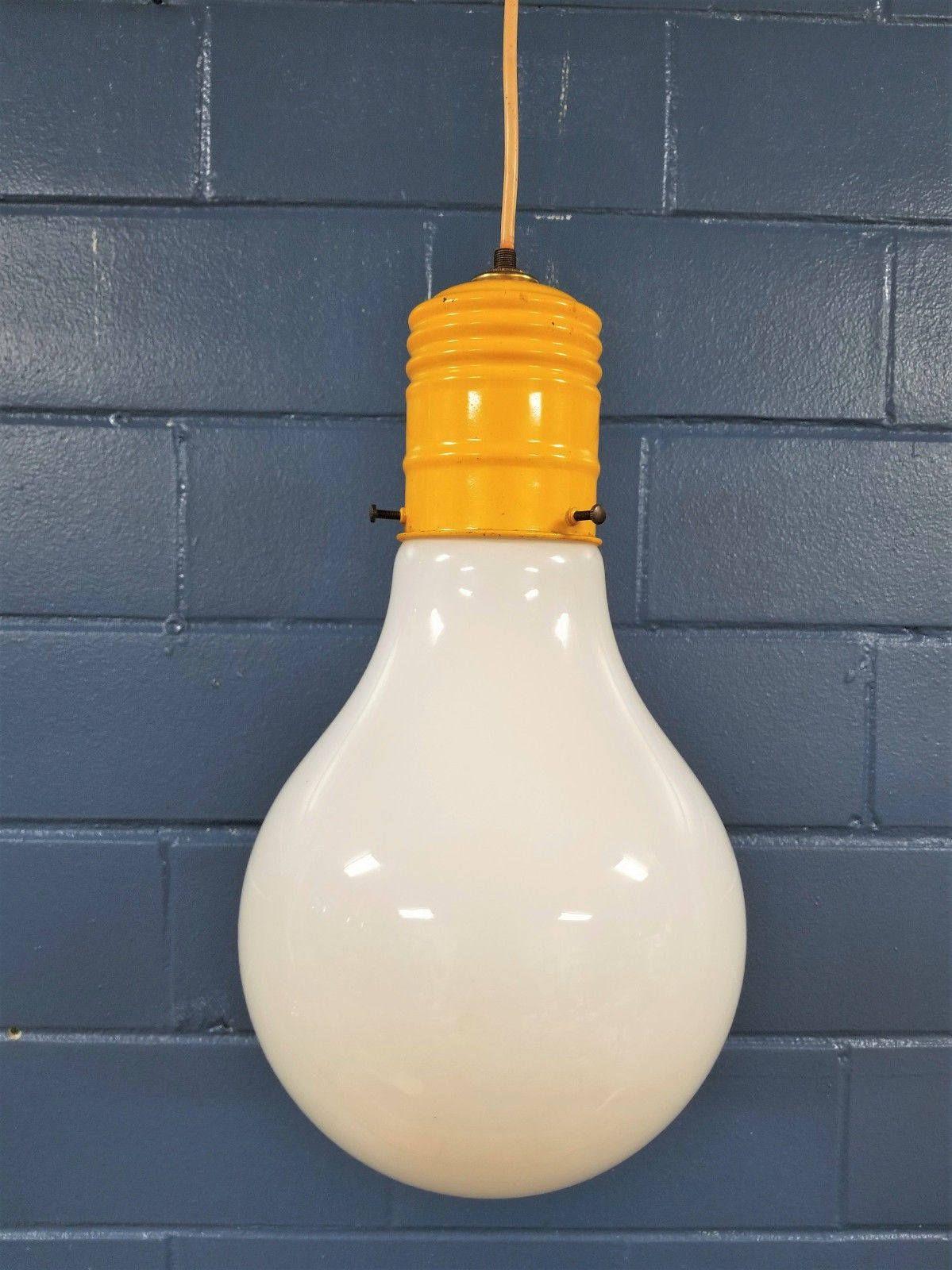 Vintage Pop Art Pendant Light Retro Mid Century Modern Bulb Lamp By Takefivevintage On Etsy