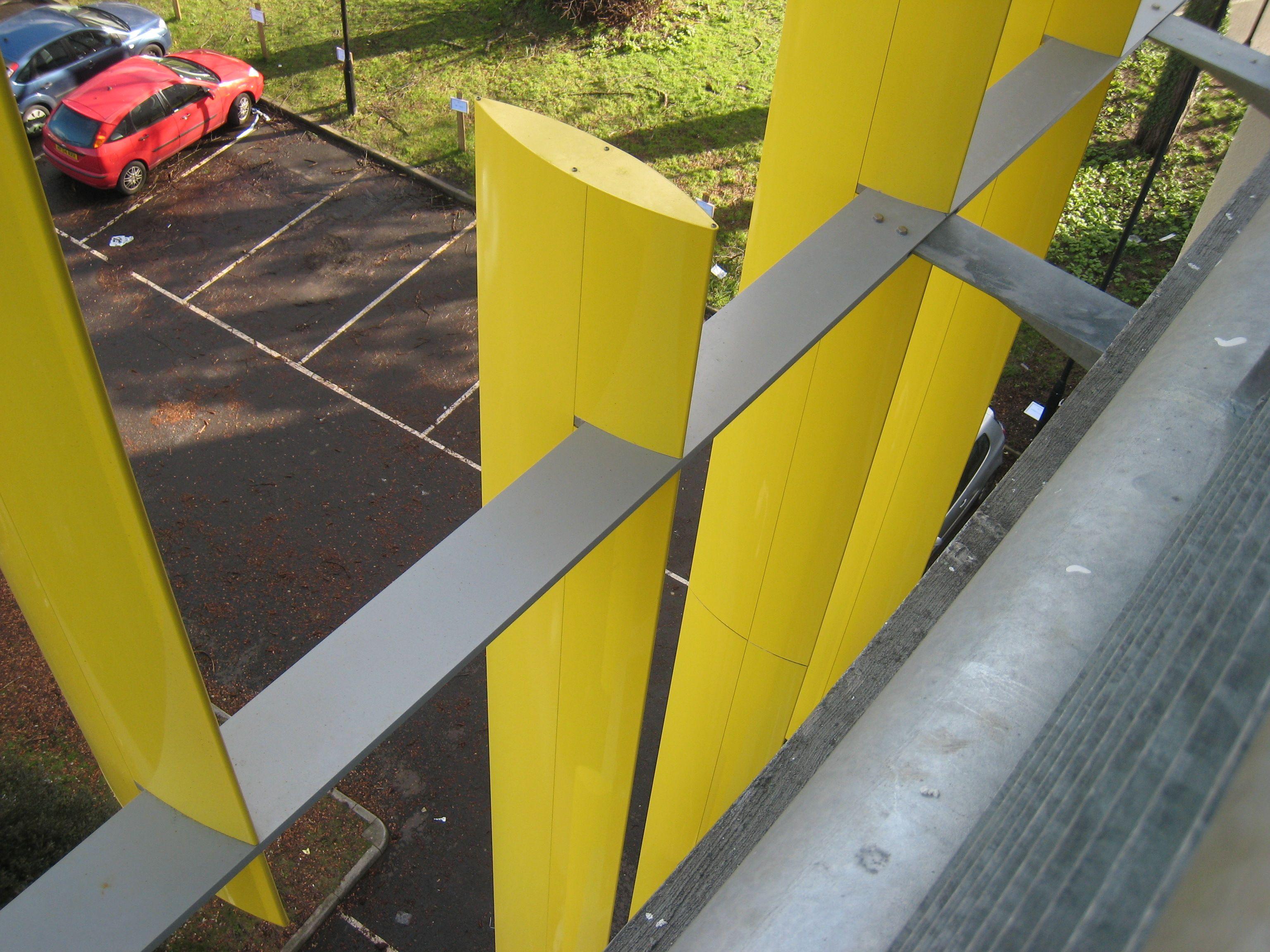 Madeira Road MSCP. Picture of Levolux fins.Another project that we worked on.. New build multi-storey car-park (ParkMark Safer Parking Approved). #BuildingOptions #QS #Construction #Consultants #CBC #Bournemouth #QuantitySurveyor #ProjectManager #CommercialManagement #Refurb #NewBuild #Commercial #BQ #Developer #JigsawSolutions #EmployersAgent  #CostPlanning #JointVentures #Property #MSCP #CarPark #ParkMark #SaferParking www.BuildingOptions.co.uk