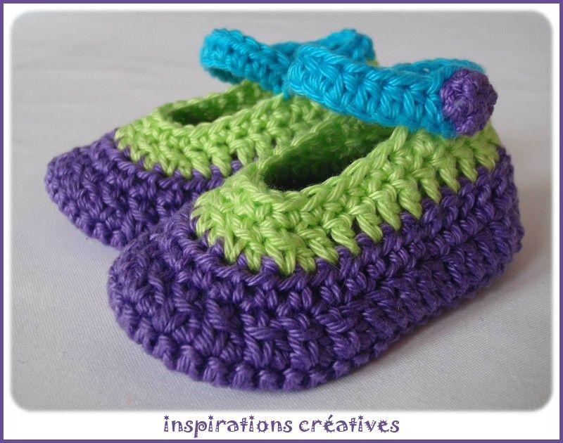 48b7a72397c63 Tuto Chaussons Bébé au Crochet - Inspirations Créatives