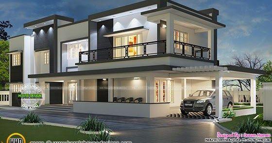 Free Floor Plan Of Modern House Double Storey House Plans Kerala House Design House Designs Exterior