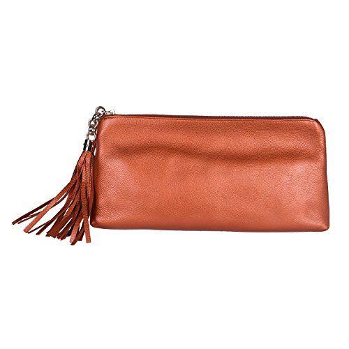Gucci 100 Leather Bronze Clutch Handbag Evening Bag