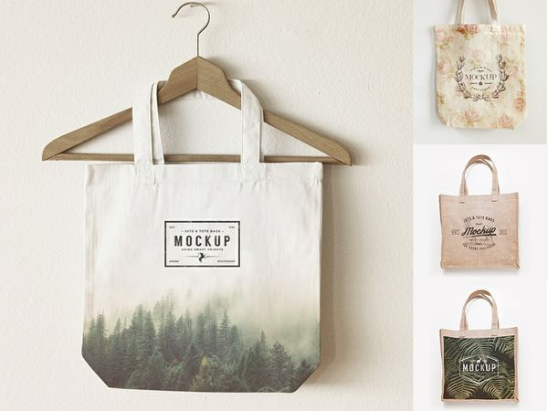 Download Design Freebies Bag Mockup Jute Tote Bags Design Freebie