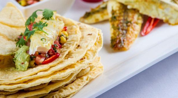 Embrace seasonal produce with fish tacos and sweetcorn salsa