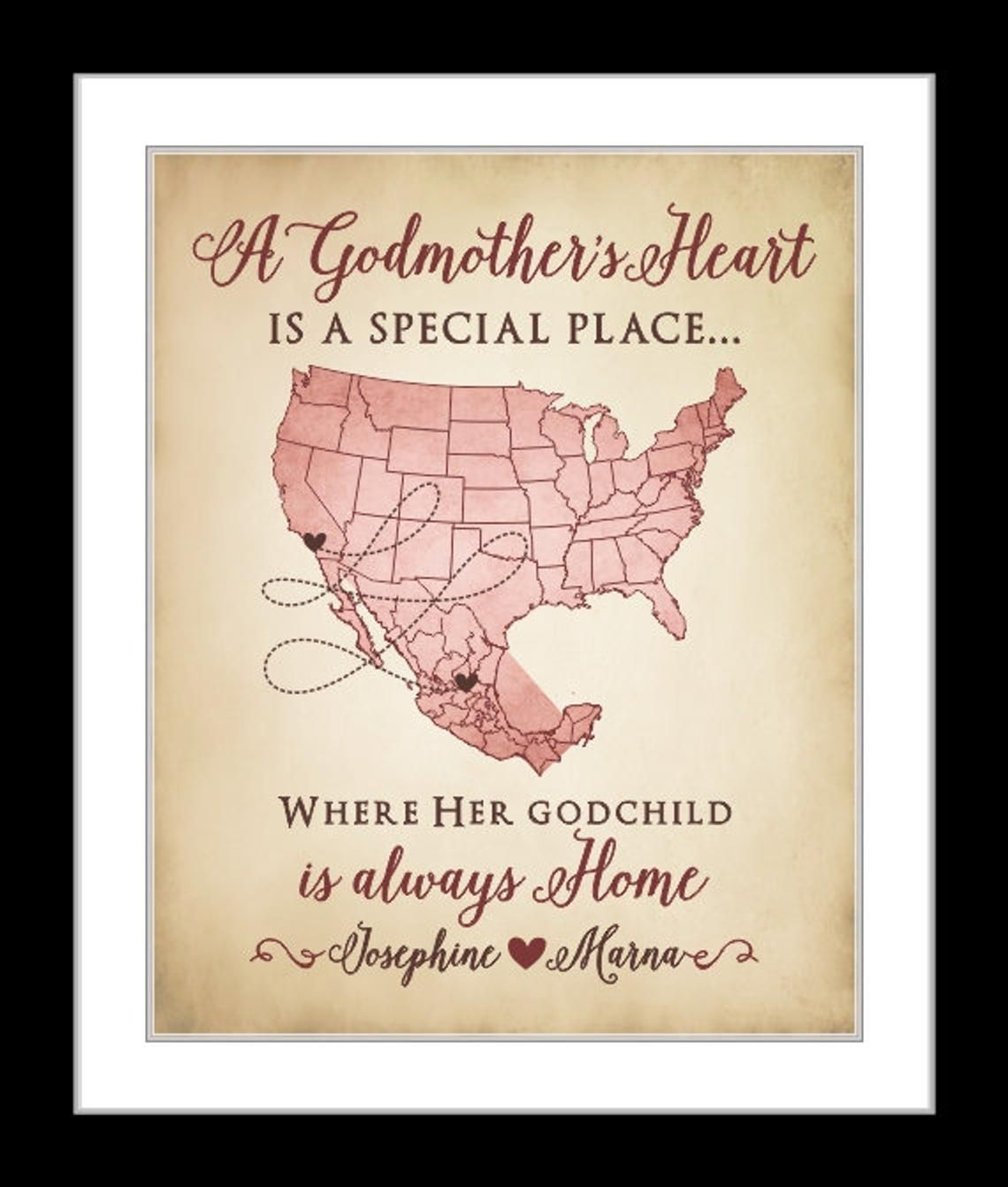 Long distance gift for godfather and godmother godfather gift godmother gift
