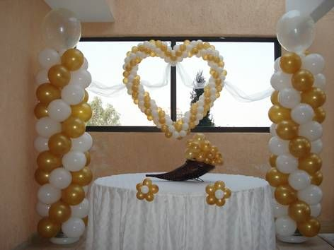Decoracion con globos para bodas buscar con google - Arreglos con globos para boda ...