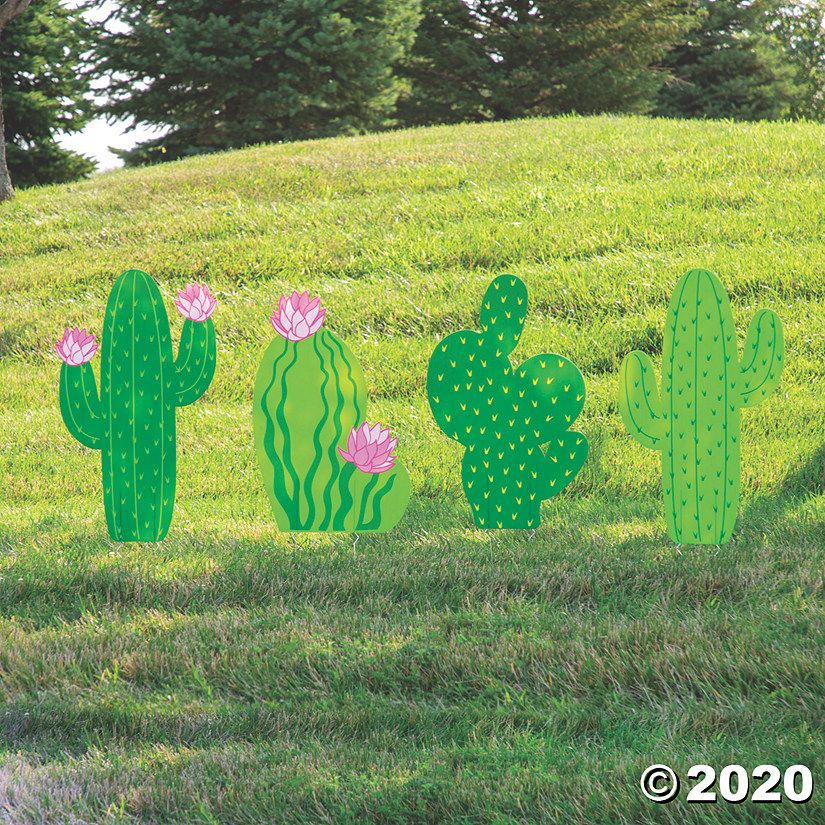 Cactus yard signs oriental trading in 2020 yard signs