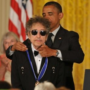 Bob Dylan received Medal of Freedom