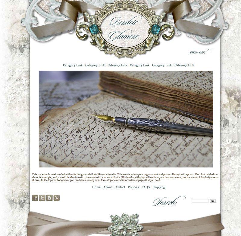 Boudoir Glamour Website Template | Avalon Rose Design Feminine ...