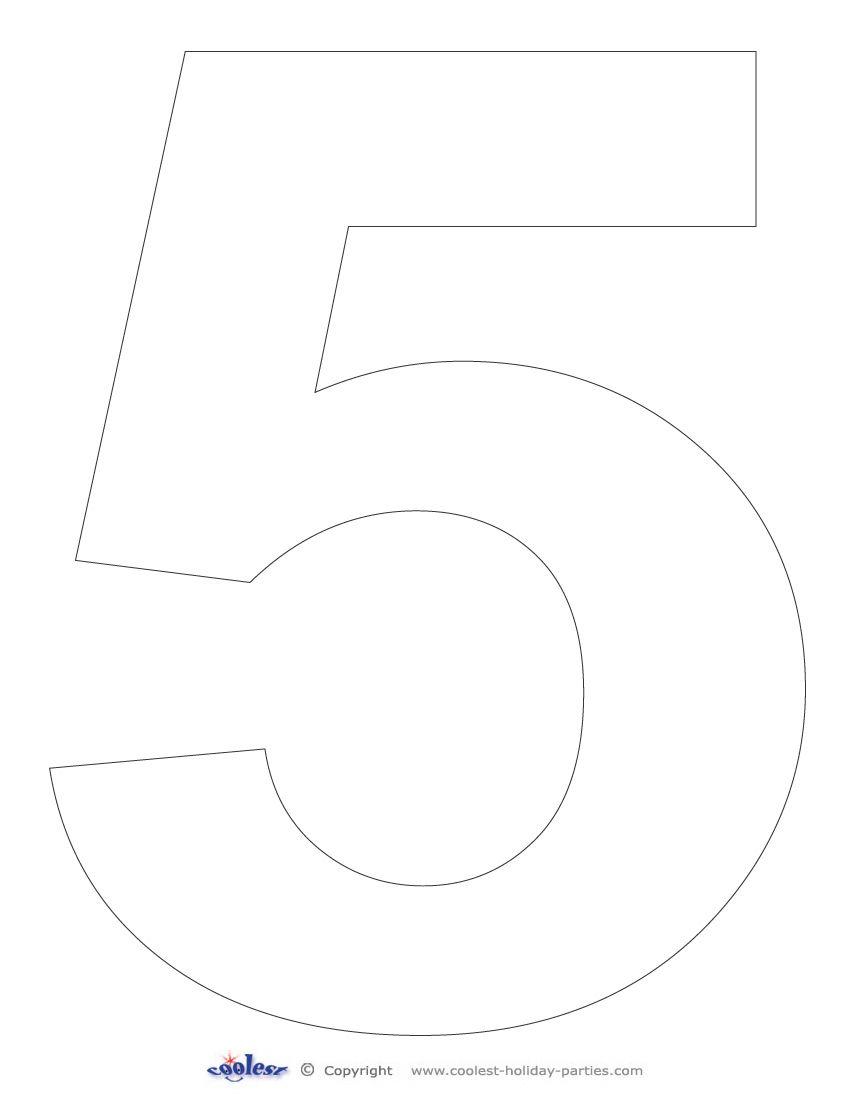Printable Number 5 Free Printable Numbers Number Stencils Printable Numbers