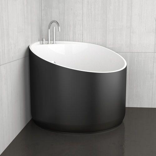 Freistehende Badewanne   Eck   aus Acryl MINI BLACK GLASS DESIGN - freistehende badewanne einrichten modern