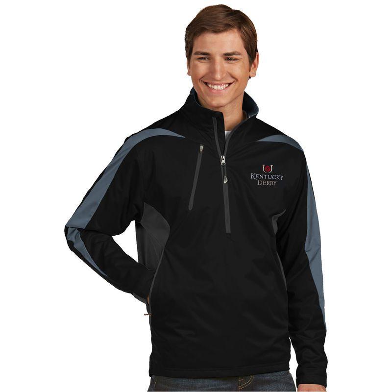 Kentucky Derby Antigua Discover Half-Zip Jacket - Black Gray ... f33d55972
