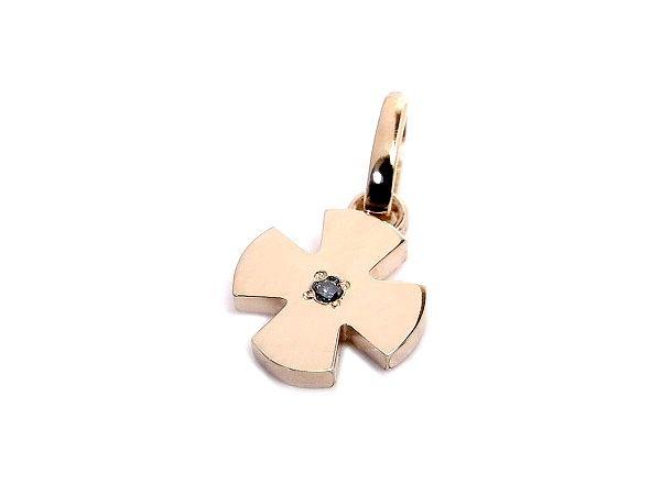Ambrace blue diamond k18 pink gold cross pendant ambrace blue diamond k18 pink gold cross pendant mozeypictures Choice Image