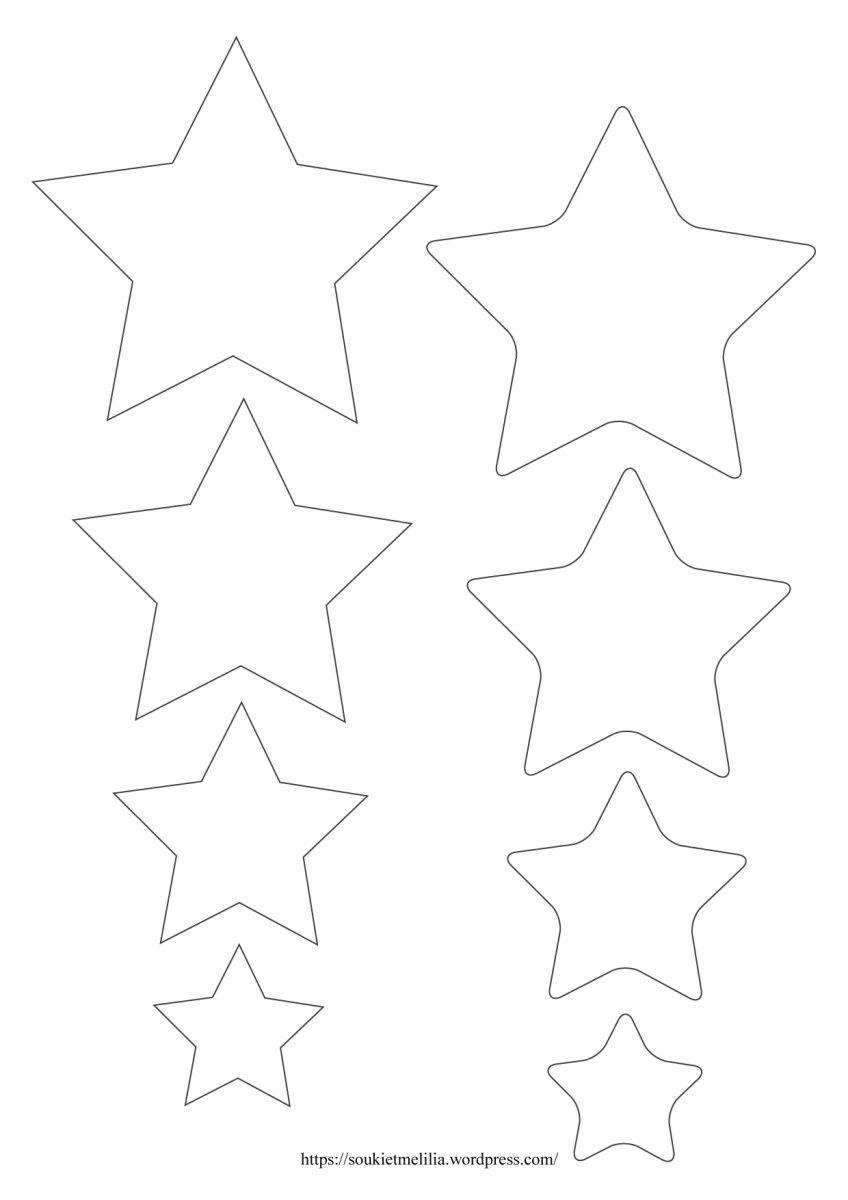 Gabarit étoiles lunes  télécharger