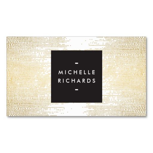 Faux Gold Confetti Dots Pattern Modern Business Card Business - event card template