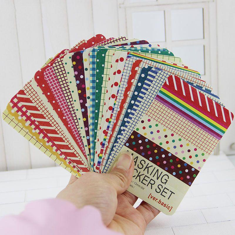27 قطع ملصقات سكرابوكينغ اخفاء الشريط كرافت حزمة الزخرفية سمها الفن اللاصقة Craft Stickers Tape Crafts Masking Tape