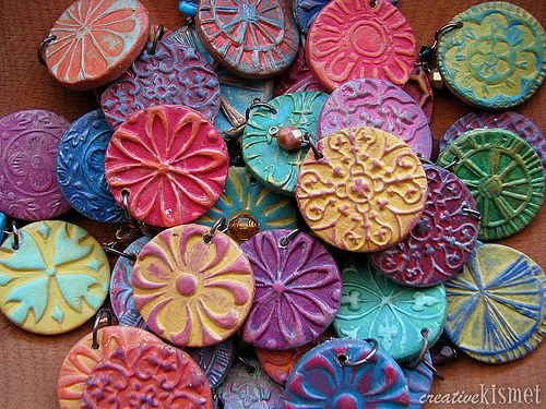 paper clay pendants