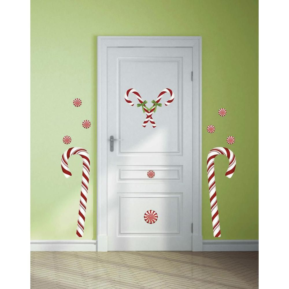 Candy Cane Giant Decal Christmas Wall Stickers Christmas Wall Decal Wall Decals