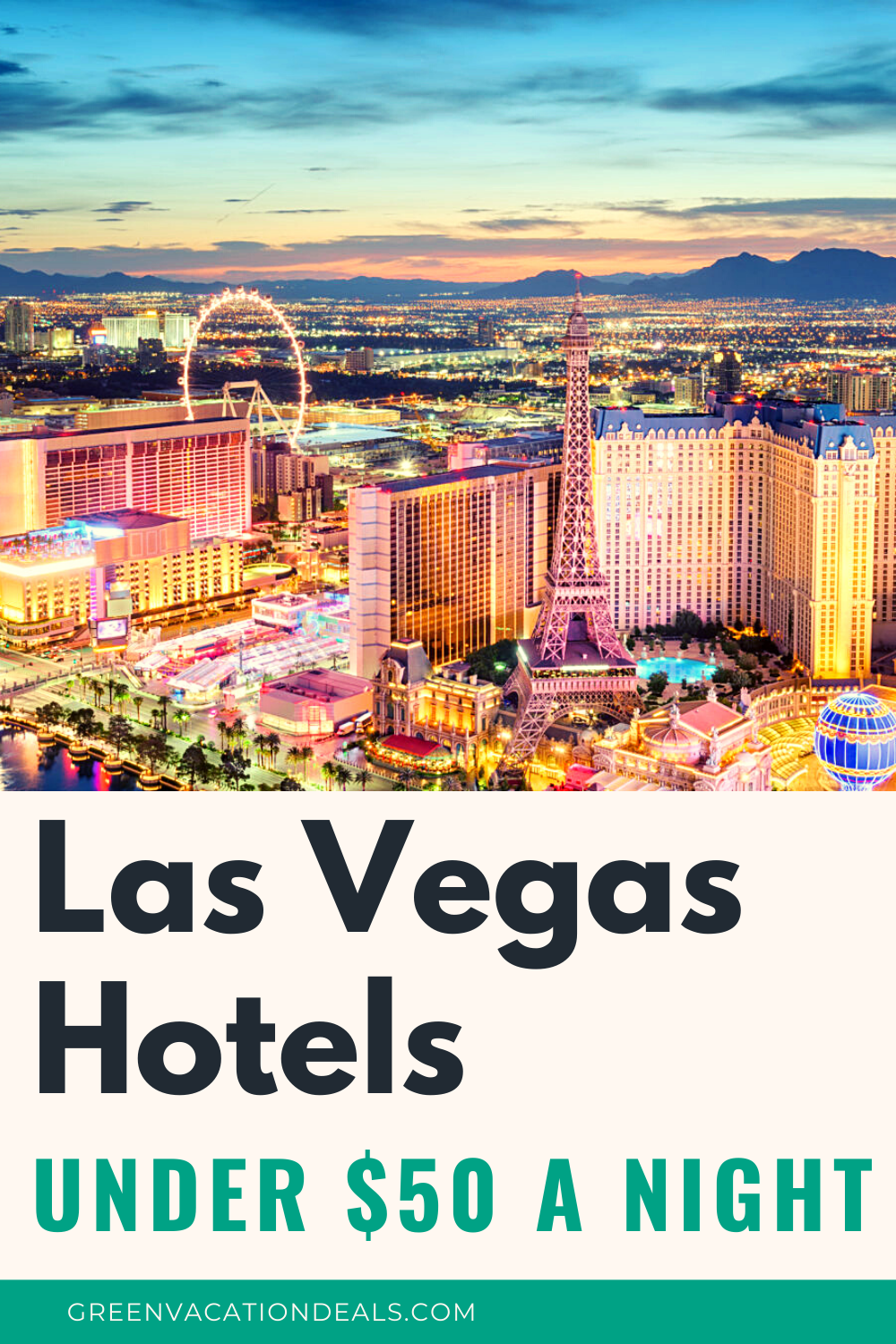 Top Las Vegas hotels under $50/night: Paris, Flamingo, Bally's, Rio, Excalibur, Luxor, MGM, Mirage, Planet Hollywood, Westgate, Strat, Orleans, New York... Must see travel deals for Las Vegas Nevada trips. #LasVegas #Vegas #VIvaLasVegas #Vegasbaby #hoteldeals #BudgetTravel #budgettraveler #budgettrip #cheaptravel #cheapvacation #budgetvacation #travelhacks #travelsale #hotelsale #travel