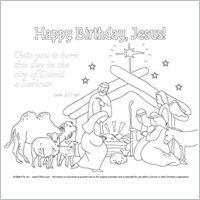 caa409278b9a15cef9cfdfd7de76975d » Happy Birthday Jesus Color Pages