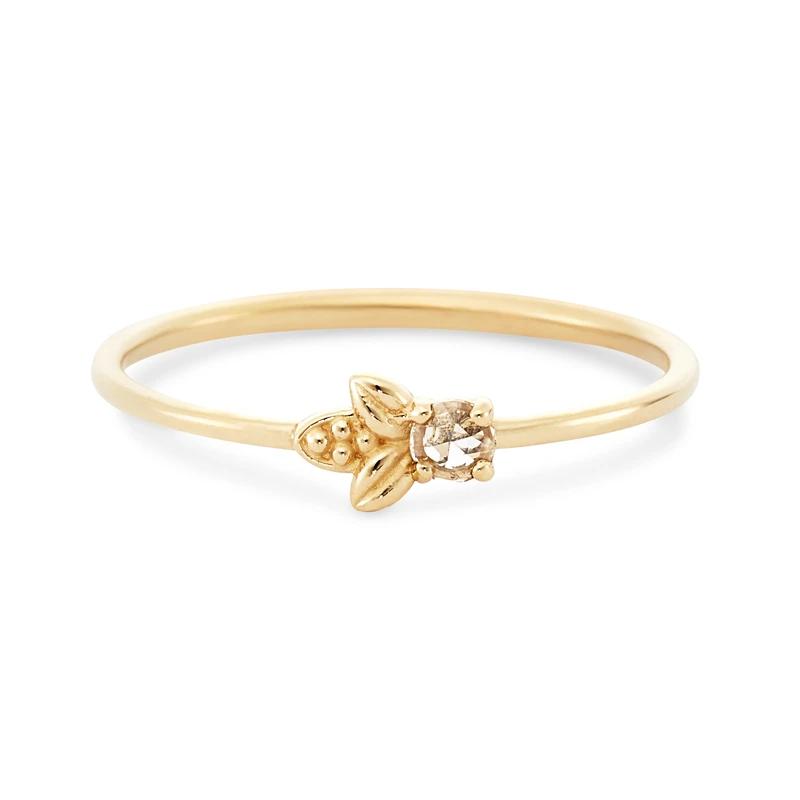 Photo of Honey bee ring – 14 carat yellow gold, white diamond