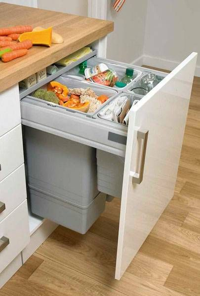 Large Integrated Recycling Bin  Waste Management  Accessories Inspiration Kitchen Waste Bins Inspiration