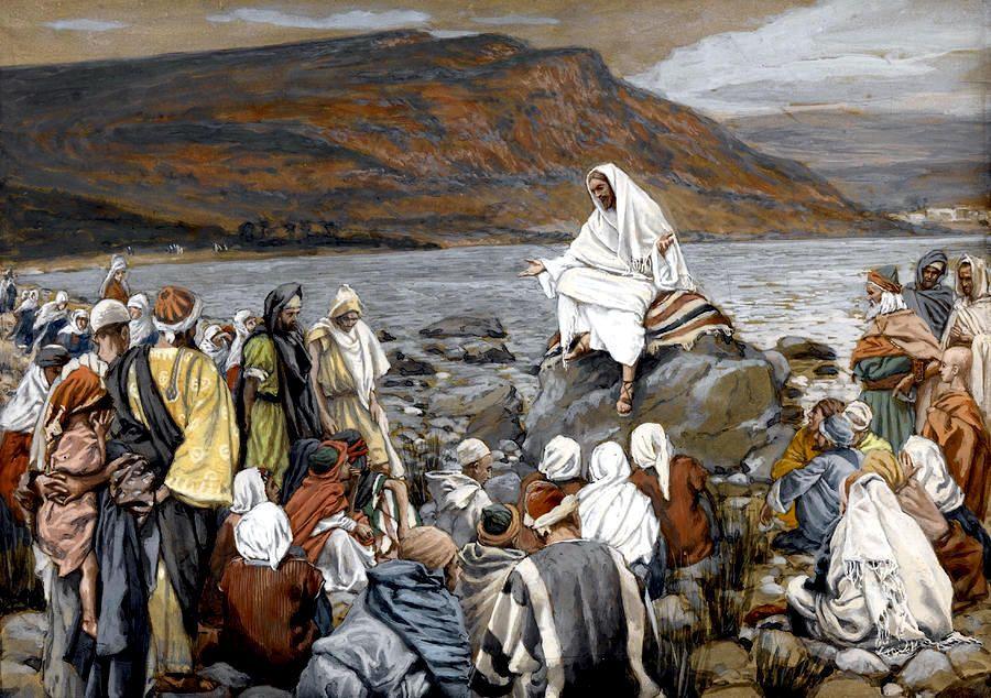 Jesus teaches at the sea shore. Mark 3:7-12 | Jesus teachings, Bible art,  Historical jesus